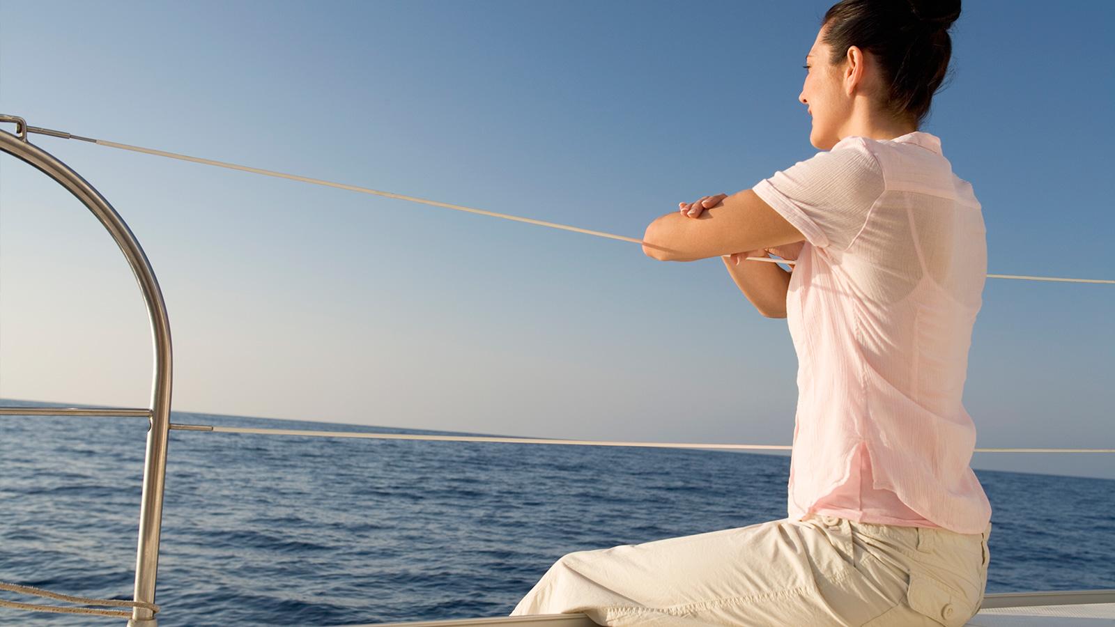 Un moment de détente à bord du catamaran